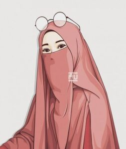 Muslim lady face covered